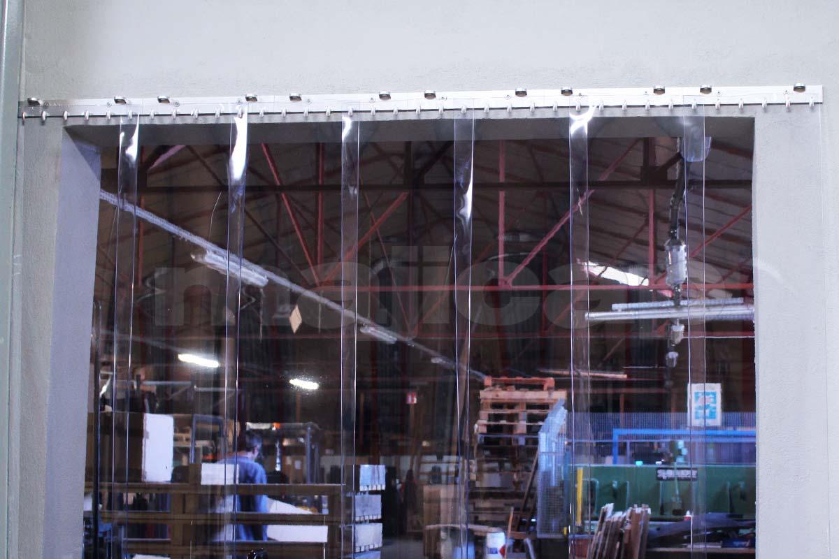 Rideau Eco-Fix à lanières PVC transparentes