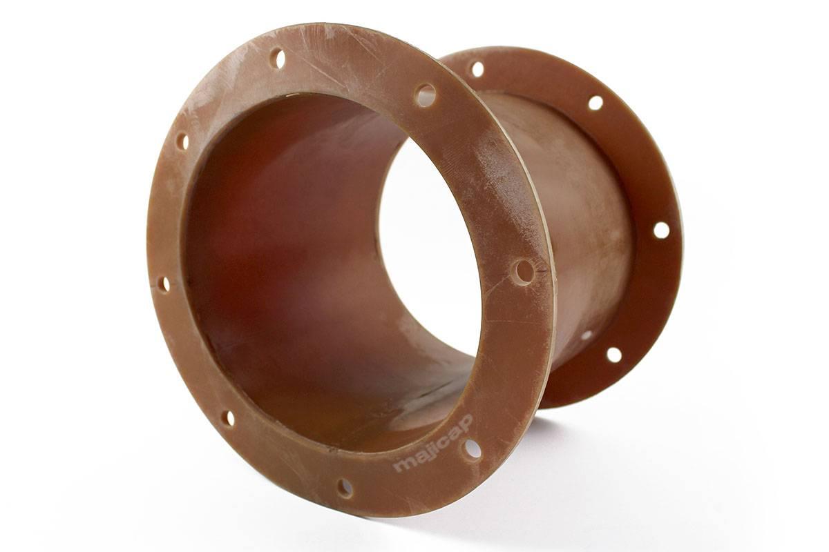 Manchettes ovales avec une collerette et bande de renfort en EPDM
